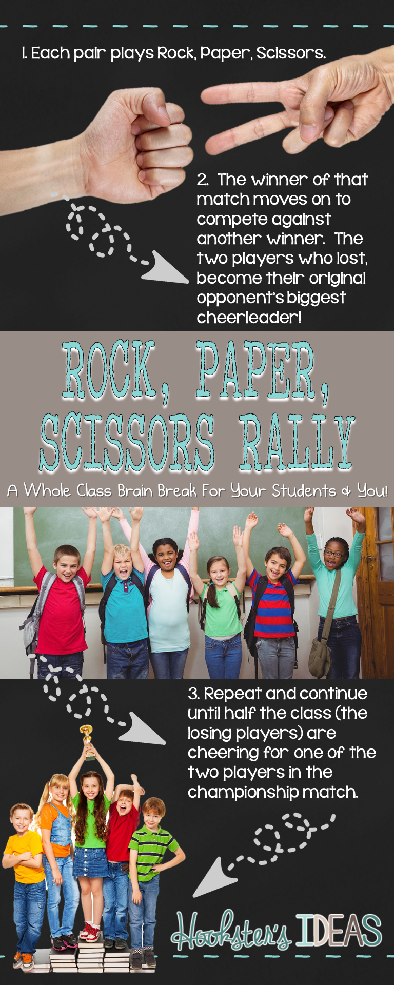 This whole class game will get your students energized and can be done mid-testing and post-testing to release some stress.